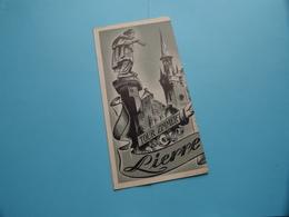 LIER > Folder Frans ( Ontwerp : S. De Bie / Druk VTK Antwerp / Uitg. V.V.V. ) Anno 1950 ( Voir Photo ) ! - Dépliants Touristiques