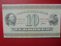 DANEMARK 10 KRONER 1954-74 CIRCULER-BONNE QUALITE (B.2) - Denemarken
