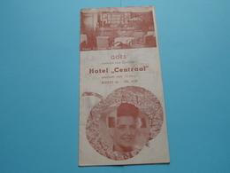 "GOES Centrum Van ZEELAND Hotel "" CENTRAAL "" Markt 40 - Tel 2120 (Van Liere & Korstanje) Anno 19?? ( Zie Foto's Detail ) - Dépliants Touristiques"