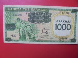 GRECE 1000 DRACHME 1939  CIRCULER  (B.2) - Grèce