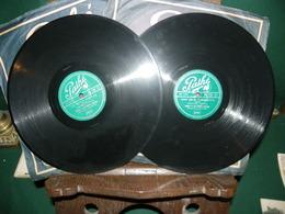 BOURVIL ET LES PIERROTS PARISIENS : 2  X 78 TOURS PATHE - 78 Rpm - Gramophone Records