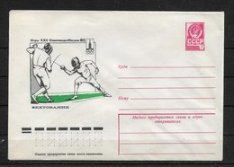 Russia/USSR 1980, Cachet Cover, Moscow'80 Olympics, Fencing,VF Unused ! (NR50) - 1923-1991 USSR