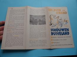 SCHOUWEN DUIVELAND ( Zee, Duin En Strand ) ( A.N.V.V. Reg N° 54183 ) Anno 19?? ( Zie Foto's Detail ) Folder - Dépliants Touristiques