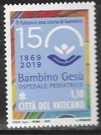 "VATICAN, 2019, MNH, HEALTH, HOSPITALS, PEDIATRIC HOSPITAL ""BAMBINO GESÚ"", JOINT ISSUE WITH ITALY, 1v - Health"