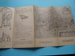 ZIERIKZEE - ZIRIZEA ( A.N.V.V. Reg N° 4894 ) Anno 19?? ( Zie Foto's Detail ) Folder - Dépliants Touristiques