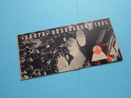 """ DRUPA "" Düsseldorf 1951 Folder - Vorzugskarte 1958 ( Grafik Zimmermann / Habra Druk ) > ( Zie Foto's Detail ) Folder - Dépliants Touristiques"