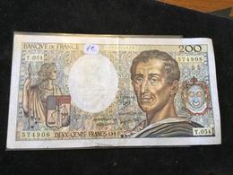 200 Francs 1987 Y054 - 1962-1997 ''Francs''