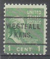 USA Precancel Vorausentwertung Preo, Locals Kansas, Westfall 712 - Vereinigte Staaten