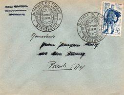 "STRASBOURG - JOURNEE DU TIMBRE ""FACTEUR RURAL""  -  11-3-1950 - Alsace-Lorraine"