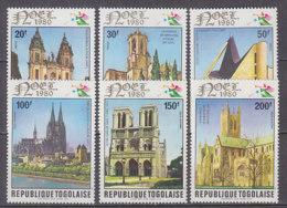 D0306 - TOGO Yv N°1008/10 + AERIENNE ** ARCHITECTURE - Togo (1960-...)