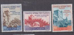 PGL BU0032 - SAINT MARIN SAN MARINO Yv N°424/26 ** ARCHITECTURE - Saint-Marin