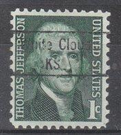 USA Precancel Vorausentwertung Preo, Locals Kansas, White Cloud 843 - Vereinigte Staaten