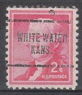 USA Precancel Vorausentwertung Preo, Locals Kansas, White Water 704 - Vereinigte Staaten