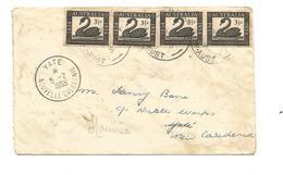 Lettre D'Australie Pour YATE    Cachet D'arrivée à Noumea (clasorang) - Covers & Documents