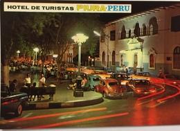 (782) Peru - Piura - Hotel De Turistas - Main Square By Night - Pérou