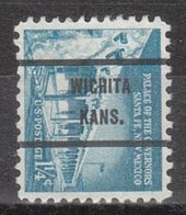 USA Precancel Vorausentwertung Preo, Bureau Kansas, Wichita 1031A-71 - Vereinigte Staaten