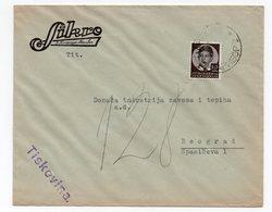 1938 YUGOSLAVIA, SLOVENIA, MARIBOR TO BELGRADE, SIKRO, COMPANY LETTERHEAD COVER - 1931-1941 Kingdom Of Yugoslavia