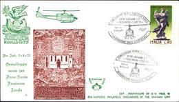 12990a)F.D.C.vaticano Serie Completa Gemellaggio Aereo Per Anno Santo 9-4-75 - FDC
