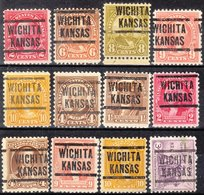 USA Precancel Vorausentwertung Preo, Locals Kansas, Wichita 204, 12 Diff. Perf. 11x10 1/2 - Vereinigte Staaten