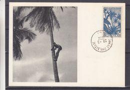 France - A.O.F.- Senegal - Carte Postale De 1952 - Oblit Dakar Philatélie - Récolte Noix De Coco - Carte Maximum ? - A.O.F. (1934-1959)