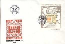 Estonie - Lettre De 1993 ° - Oblit Tallinn - Timbres Sur Timbres - Cor De Poste - - Estonia