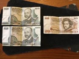 Lot De 3 Billet ,deux De 100 Schilling 1984 - Oesterreich