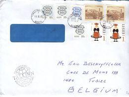 Estonie - Lettre De 1997 ° - Oblit Tallinn - Armoiries - Costumes - Estonia