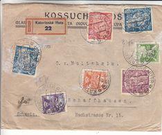 Tchècoslovaquie - Lettre Recom De 1923 ° - Oblit Katerinska Huta - Exp Vers Schaffhausen - - Cecoslovacchia