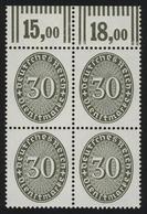 120X Strohhut 30 Pf Oberrand-Vbl. Walzendruck 292 ** - Dienstpost