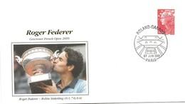 218 - 5 - Enveloppe De Roland-Garros Roger Federer Vainqueur 2009 - Tennis