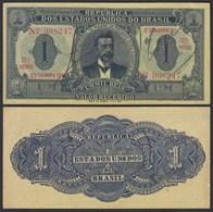 BRASILIEN - BRAZIL  1 MIL REIS Banknote 1921 Pick 8 AXF (2-)  24756 - Altri – America