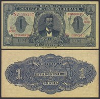 BRASILIEN - BRAZIL  1 MIL REIS Banknote 1921 Pick 8 AXF (2-)  24756 - Banknoten