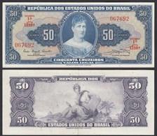 Brasilien - Brazil 50 Cuzeiros (1961) Pick 169a AXF (2-) Sig.9  (24769 - Banknoten