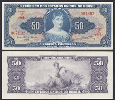 Brasilien - Brazil 50 Cuzeiros (1961) Pick 169a AXF (2-) Sig.9  (24769 - Sonstige – Amerika