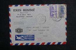 SYRIE - Enveloppe Commerciale De Alep Pour La France En 1953, Affranchissement Plaisant - L 38819 - Siria