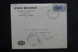 SYRIE - Enveloppe Commerciale De Alep Pour La France En 1953, Affranchissement Plaisant - L 38820 - Siria