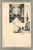 CPA - CORNIMONT (88)  Carte Multivues De 1904 - Eglise, Intérieur Et Extérieur - Précurseur - Cornimont