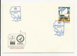 Cover FDC Angola Congresso UNTA Luanda 1984 - Angola