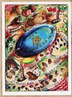 Cpfete 027 Carte De Voeux LES 13 DESSERTS Provençaux Sharon TULLOCH Collection Bouches Du Rhône Conseil Général N°25 - Navidad