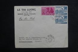 VIÊT-NAM - Enveloppe Commerciale De Saïgon Pour La France En 1960, Affranchissement Plaisant - L 38823 - Viêt-Nam