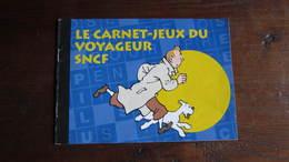 TINTIN LIVRET JEU SNCF - Tintin