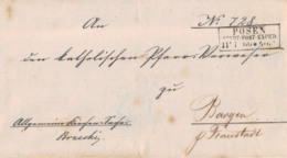 1866 POSEN Bfh N. Bargen - [1] ...-1849 Préphilatélie