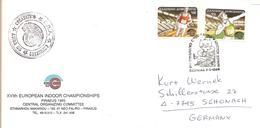 1985 Championnat D'Europe Indoor D'Athlétisme :Grèce;courrier Officiel - Athlétisme