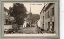 CPA - CORNIMONT (88)  Aspect De La Grande Rue Au Niveau Du Bureau De Poste Dans Les Années 20 - Cornimont