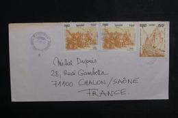 CAMBODGE - Enveloppe Pour La France En 1992, Affranchissement Plaisant - L 38832 - Kambodscha