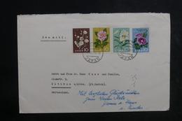 JAPON - Enveloppe De Tokyo Pour La Suisse En 1961  Affranchissement Plaisant, Vignette Au Verso - L 38834 - 1926-89 Emperor Hirohito (Showa Era)