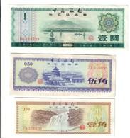 CHINA CINA 10 + 50 Fen + 1 Yuan Foreign Exchange Certificate LOTTO 2700 - Cina