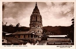 Penang Real Photo Postcard New Pagoda, Ayer Itam Temple (a1421) - Malaysia