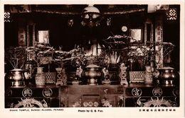 Penang Real Photo Postcard Snake Temple, Sungei Kluang (a1420) - Malaysia