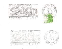 1987 Colette BESSON: Médaillée D'or 400 M Jeux Olympiques Mexico 1968:2 Flammes Différentes - Sommer 1968: Mexico